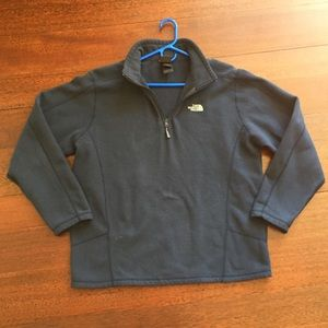 Men's North Face Dark Navy Quarter Zip Pullover